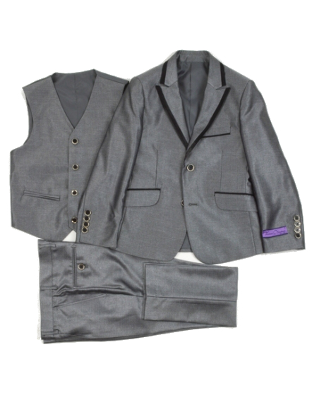 Isaac Michael Silver Tuxedo Suit 46db1ca6a