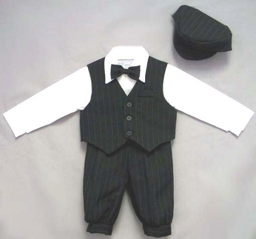 0b1ce5a92408 DapperLads - Close-Out Black Pin Stripe Knicker Suit - Toddler 2T ...