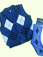 2 Pc Toddler Golf Sweater Vest & Argyle Knee Socks