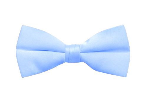 light blue satin bow tie
