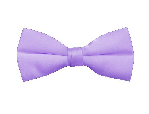lilac clip-on satin bow tie