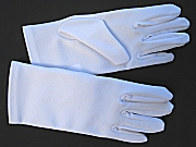 Boy's White Formal Wrist Length Gloves