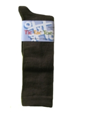 Tic Tac Toe Boy's Cotton Knee Socks -Chocolate