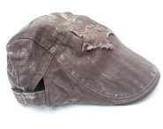 Distressed Cotton Star Applique Kids Driver Hat - Brown
