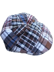 Toddler / Youth Cotton Patch Plaid Golf Driver Cap - Brown