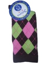 Jefferies Brown Argyle Knee Socks