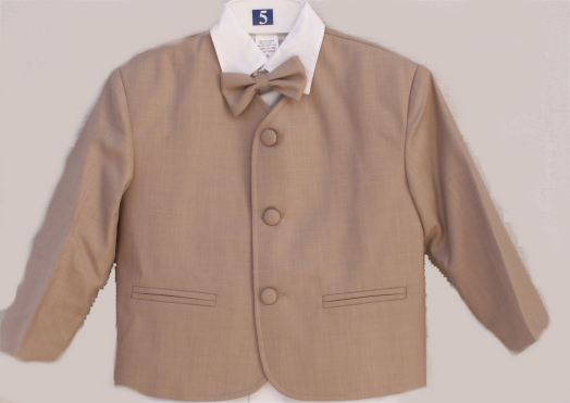 Close-Out Infant Eton Suit in Tan