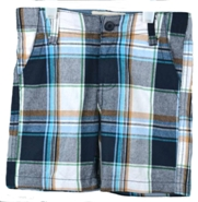Freestyle Revolution Toddler Boys Blue Plaid Golf Shorts