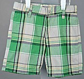 Freestyle Revolution Toddler Boys Green Plaid Golf Shorts