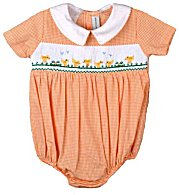 Vive Le Fete Smocked Boys Easter Baby Chicks Bubble