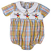 Vive Le Fete Smocked Sibling Infant Boys Bubble