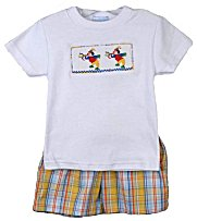 Vive Le Fete Smocked Sibling Toddler Boys Shorts Set