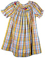 Vive Le Fete Sibling Girls Smocked Bishop Dress