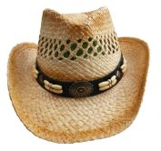 Summertime Toddler Kids Straw Western Cowboy Hat