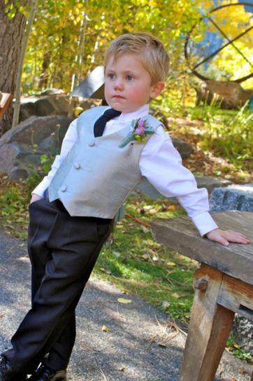 5fd6dc4d6e1 DapperLads - Boys Silver Silk Formal Pants Set - Toddler 2T - 4T ...