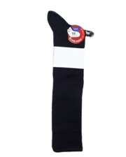 Boy's Cotton Dress Knee Socks - Black