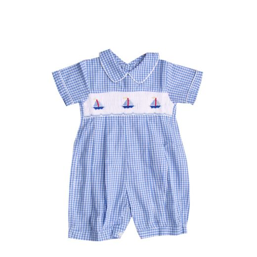 Infant Boys Smocked Sailor Bubble