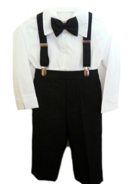 1aea7eb1fbc DapperLads - 4 Pc Pants   Suspenders Set - White - Infants 3 mo - 24 ...
