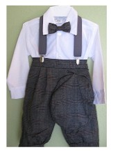 Boys Gray Plaid Knicker Outfit Exclusive
