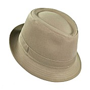 Infant  / Toddler Fedora Cotton Hat - Khaki