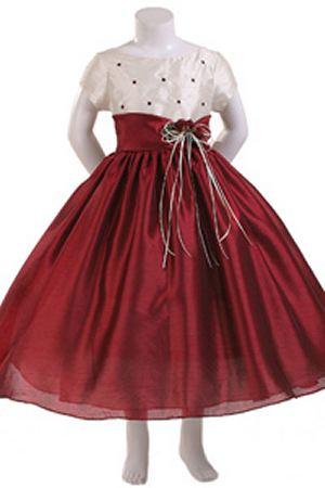 MB120 - Ivory Satin Flower Girl Dress - Jillian