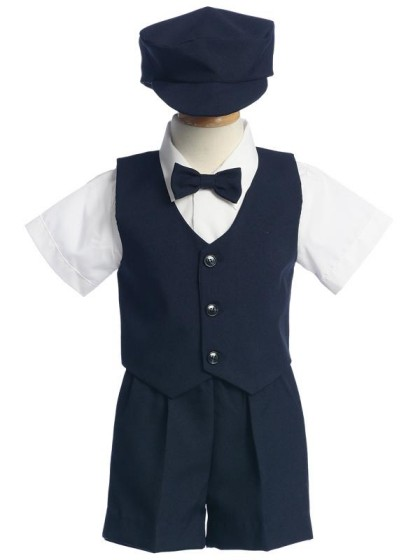 <b>Sale</b> Boys Special Occasion 5 Pc Shorts Set - Navy
