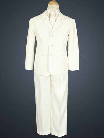 Boys 5 Pc White Special Occasion / Communion Suit