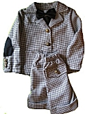 DapperLads Black Houndstooth Blazer & Shorts 3 Pc Suit