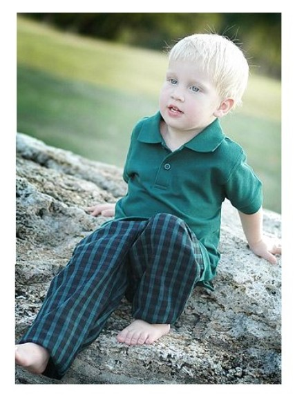 Navy Plaid Toddler Pants