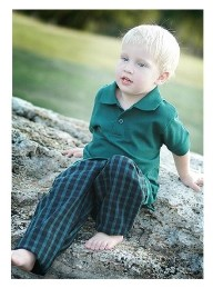 Tow Away Zone Toddler Boys 100% Cotton Plaid Pants