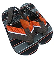 Frisky Toddler Boys Flip-Flop Sandals - Orange
