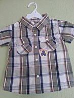 Little Rebels Toddler Boys Plaid Short Sleeve Shirt