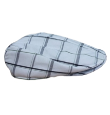 Infants & Toddlers White Plaid Newsboy Driver Golf Cap