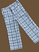 Toddler Boys White Plaid Golf Pants