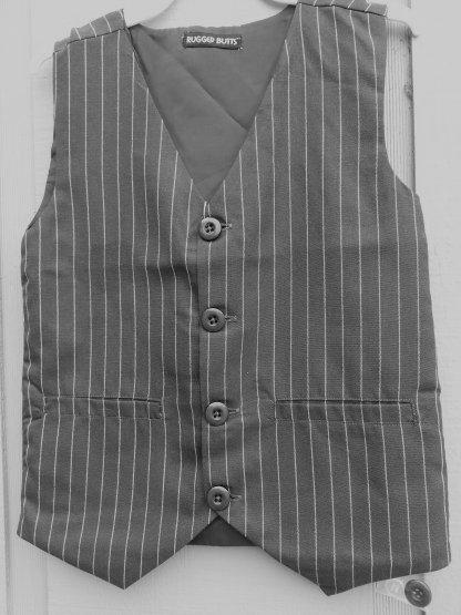 Dapperlads Close Out 2 Piece Gray Pinstripe Cotton Vest