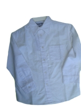 Touch Of Class Boys Natural Fiber White Long Sleeve Oxford Dress Shirt