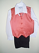 One-Of-A-Kind Persimmon $-Piece Vest & Slacks Set - Sz 5