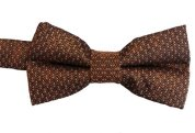 Boys Microfiber Patterned Bow Ties - Rust
