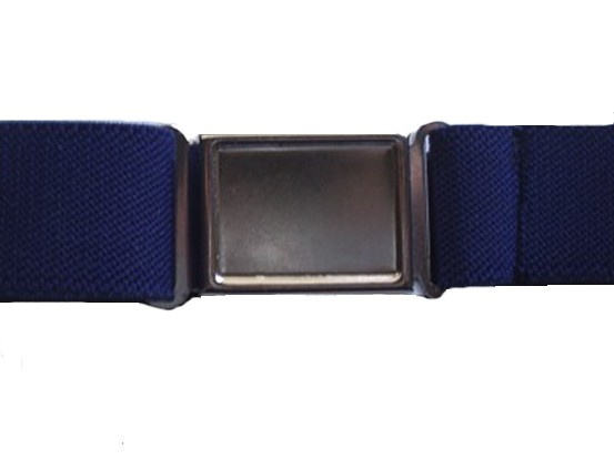 Magnetic Buckle DIY Stretch Belts - Navy