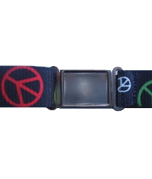 Boys Peace Sign Magnetic Buckle Elastic Belts Exclusive