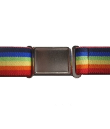 Boys Retro Rainbow Stripe Magnetic Buckle Elastic Belts Exclusive