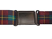 Patterned Magnetic Buckle Elastic Belts - Red Plaid