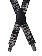 Boys Tiger Stripes Elastic Suspenders