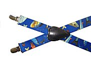 Boys Elastic Suspenders - Mixed Fish