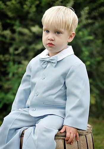 Sweet Kids Infant Boys Lt Blue Eton Suit / Long Pants