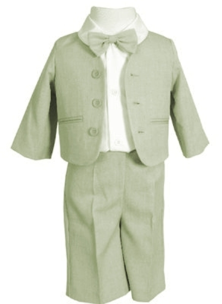 SALE 4 Pc Eton Suit w Walking Shorts - Sage (12 mo)