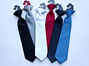 Satin Clip-On Dress Ties