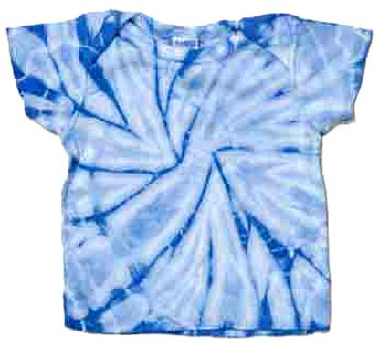Infant Tie Dye Tee Shirt - Baby Blue