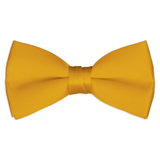 harvest gold satin bow tie