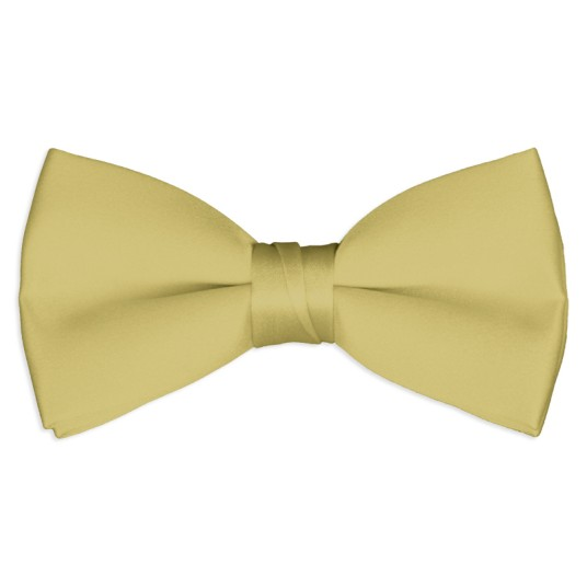 antique-gold satin bow tie